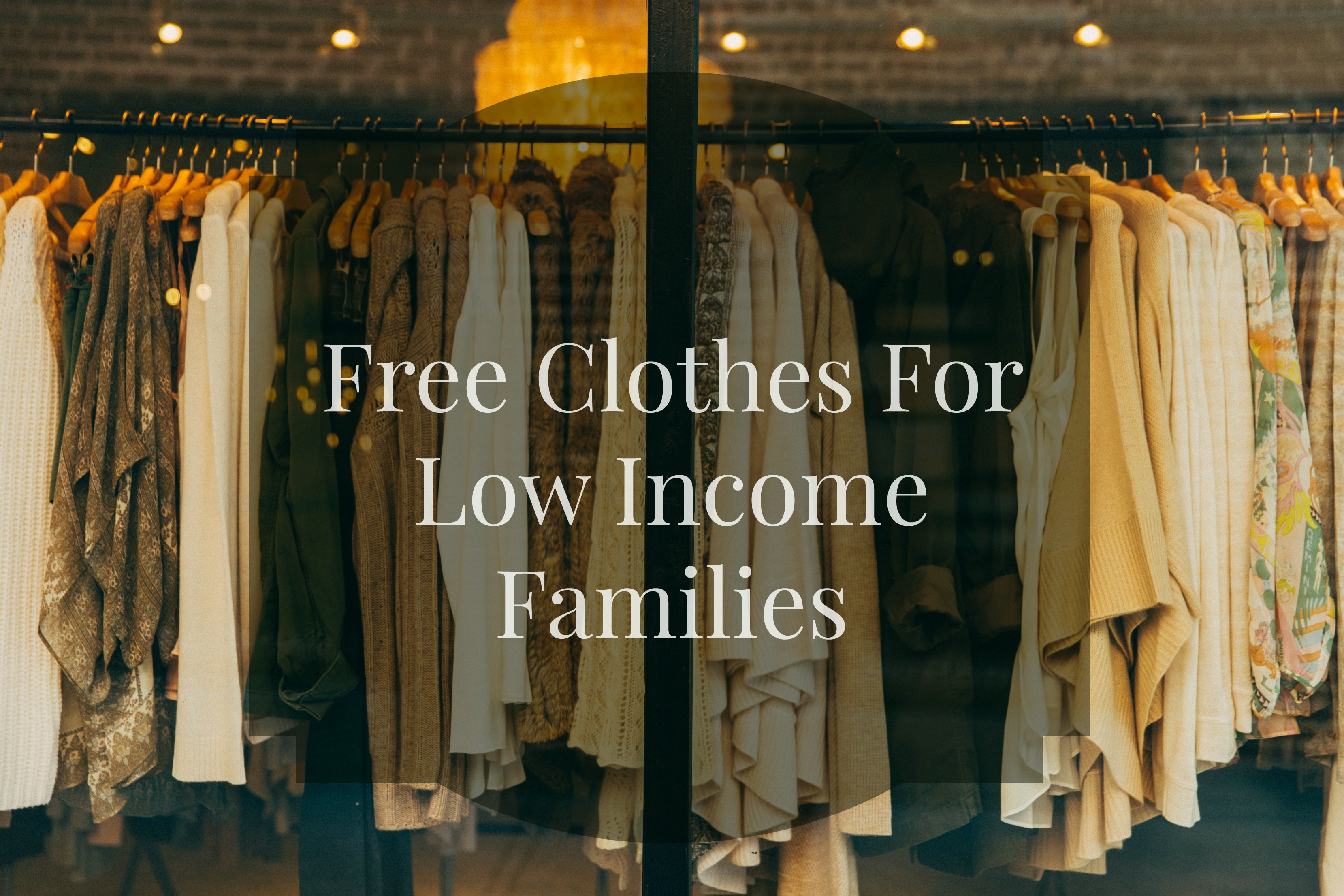 free clothes for low income families