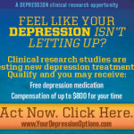 Depression Clinical Research Study Possible Free Depression medication & compensation of up to $800 for your time!
