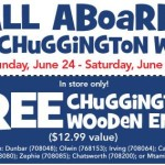 Free wooden Chuggington engine at Toys R Us! ($12.99 Value)