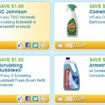 Several household cleaning coupons!