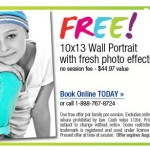 FREE 10X13 Wall Portrait at Sears Portrait Studio