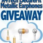 FREE PLUS FREE Shipping!! A4Tech iSecurefit Metallic Earphones