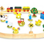 38-Piece Wooden Train Set with 3-Piece Train only $9.99 + FREE shipping!