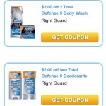 $2.00/2 Right Guard Body Wash & $2/2 Deodorants!!