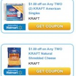 $1.00/2 off Shredded Cheese & $1/2 Singles