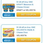 $1.00/1 Kraft Macaroni & Cheese & $1.00/1 Velveeta Shells & Cheese!