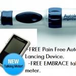 Free Autolet Lancing Device & FREE EMBRACE talking meter