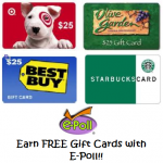 FREE Gift Cards with e-Poll!