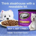 Buy 1, Get 1 FREE Cesar Dog Treats!