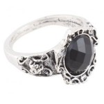 Rhinestone Black Gem Ring $1.16 Shipped