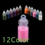 $1.44 FREE Shipping!! 12 Bottles of Color Glitter Decor Nail Art Powder Dust