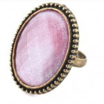 Flower Shiny Imitation Big Gem Ring $1.29 Shipped