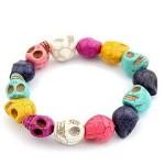 $1.29 Plus FREE Shipping!! Turquoise Stone Beads Skull Bracelet