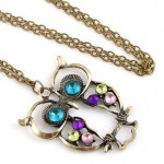 $0.98 FREE Shipping – Vintage Crystal Owl Carve Necklace