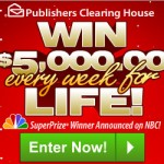 WIN $5000 a WEEK for LIFE from Publisher's Clearing House!