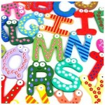 $3.20 FREE Shipping!! Adorable Wooden Fridge Magnets A-Z
