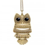 $2.79 FREE Shipping!! Vintage Owl Pendant & Chain Necklace