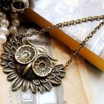 $0.89 Shipped!! Vintage Owl Necklace Plus Gift Box