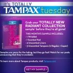 Free Tampax Radiant Samples & Cute Zip-up Bag