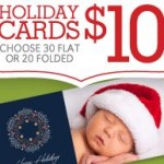 30 Flat or 20 Folded Holiday Cards For $10 Shipped!