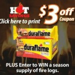 ENTER TO WIN a Season's Supply of Duraflame Logs