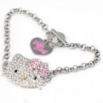 $5.09 Shipped!! Hello Kitty Crystal Bling Bracelet
