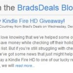 Holiday Kindle Fire HD Giveaway!