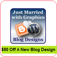 Just Married With Graphics Blog Design Review