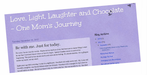 Love, Light, Laughter and Chocolate - One Mom's Journey