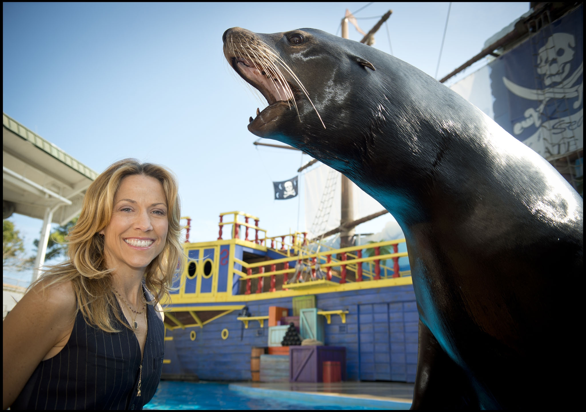 Sheryl Crow and Sea Lion