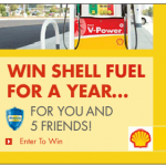 WIN FREE Shell Fuel for a Year for YOU and 5 of Your Friends!