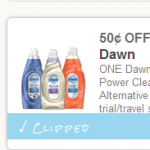 $0.50 off 1 Dawn Dish Washing Liquid