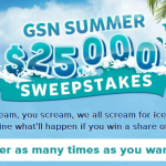 GSN – $25k Summer Sweepstakes