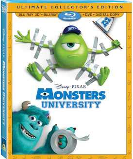 Monsters University on Blu-ray Combo Pack on 10/29!