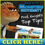 Professor Knight  From Monsters U – Top Tips for Surviving School FREE Printable
