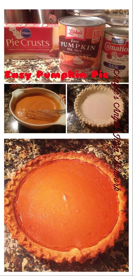 3 Ingredient Pumpkin Pie