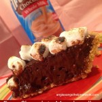 Easy Chocolate Marshmallow Milk S'mores Pie #TruMoo
