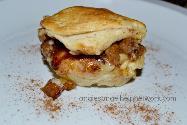 Sausage, Cinnamon & Cream Cheese #Breakfast Biscuits