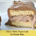 Choco-Nutter Pound Cake Ice Cream Bars Recipe #SLSweetTreats