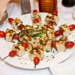 Tofu Tomato and Herb Skewers