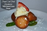 Pound Cake Fried Strawberries With Sweet Cream Cheese