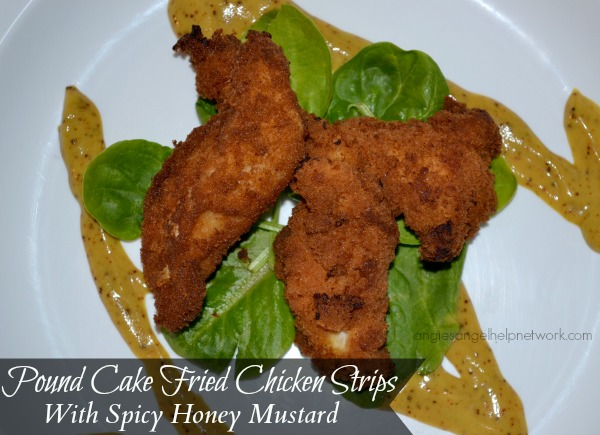 Pound Cake Fried Chicken Strips With Spicy Honey Mustard