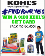 How Does $100 Kohl's Gift Card for Back To School Sound?