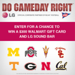 Enter For A Chance To Win A $300 Walmart Gift Card And LG Sound Bar