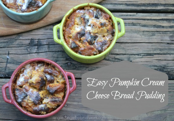 Easy Pumpkin Cream Cheese Bread Pudding Baked @Kohls #FindYourYes #CookWithKohls #Fall #recipe #foodporn