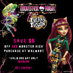 Rollback Offers For Freaky Fusion Monster High At Walmart #FreakyFusion