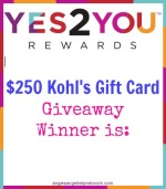 $250 Kohl's Gift Card Winner