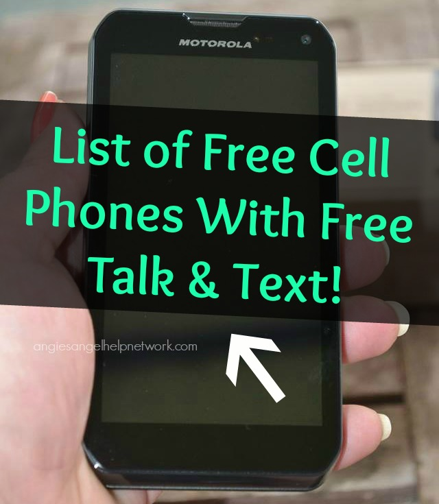 List of Free Cell Phones With Free Talk and Text