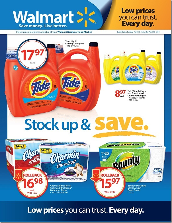 P&G Stock Up and Save Event At Walmart