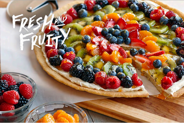 PHILADELPHIA Fruit Pizza Recipe: Kraft Kick Off Summer Cookbook #CookingUpSummer